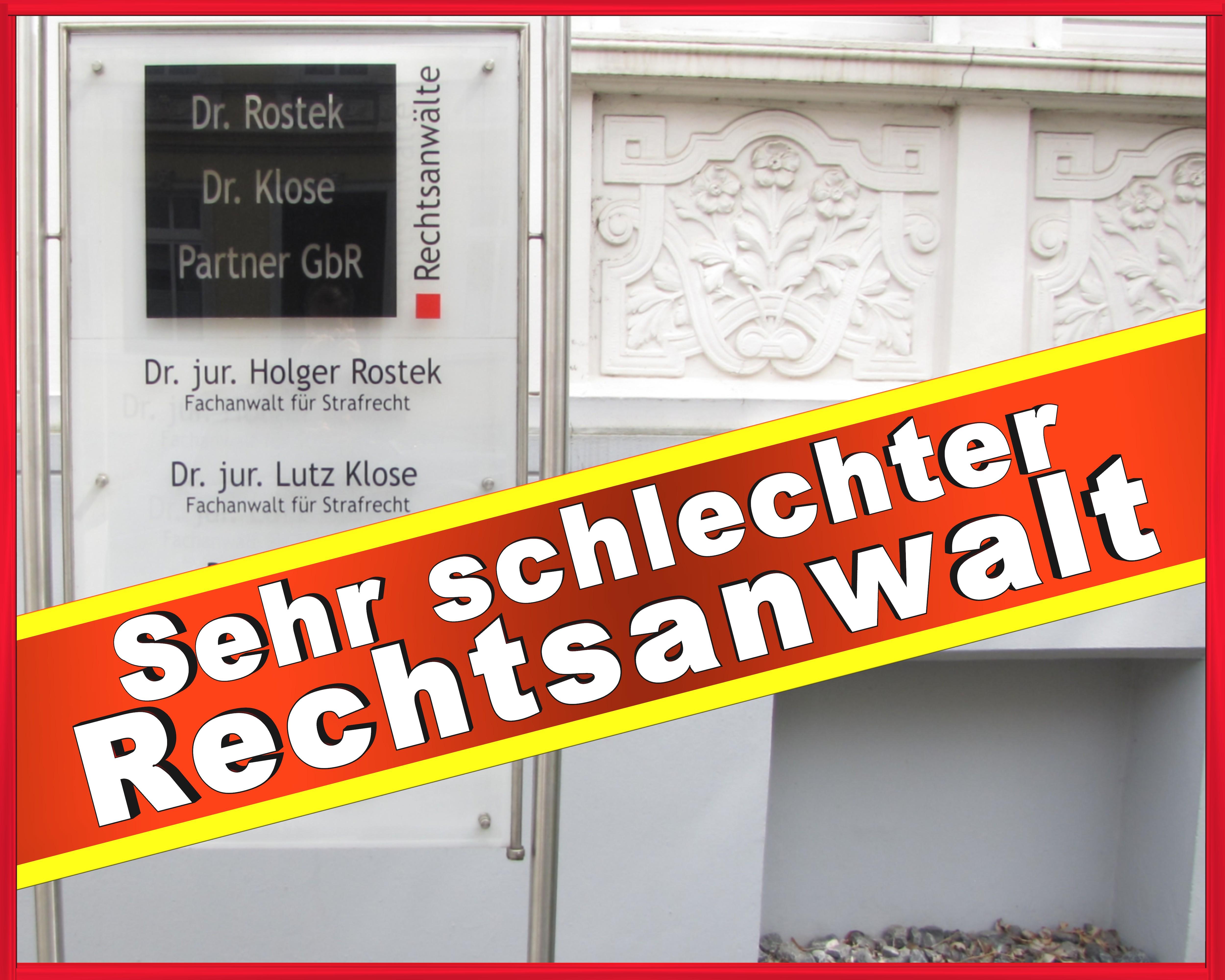 Rechtsanwalt Holger Rostek Rechtsanwalt Dr. Holger Rostek Dr. Lutz Klose Peter Rostek Jan Hochmann Katja Floegel August-Bebel-Straße 225, 33602 Bielefeld